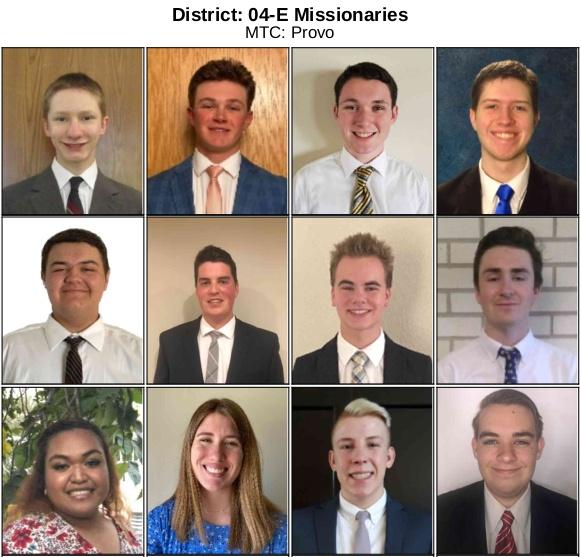 Matthew's district members
